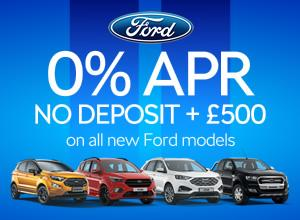 0% APR and No Deposit on all new Ford models!