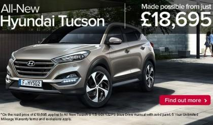 Hyundai Tucson launches 03.09.15 at John Mulholland Motors
