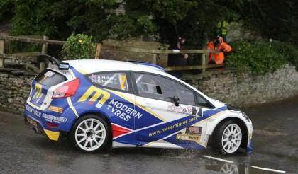 Evans leads the charge after Day 1 at the John Mulholland Motors Ulster Rally 2016